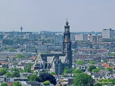 Notice how tall the Westerkerk rises above the rest of the buildings in the center of Amsterdam.  Photo: Anton Hein