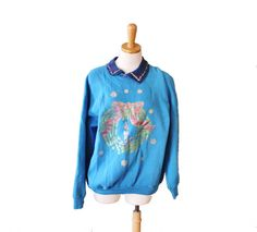 Vintage Ugly Christmas Sweater  Blue by bluebutterflyvintage