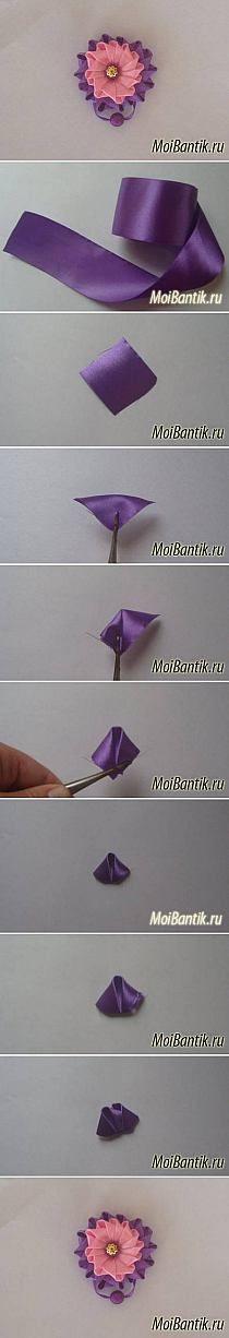 kwiat ze wstazki