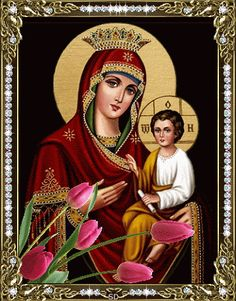 All animated gifs Russian Orthodox, Cinemagraph, Madonna And Child, Jesus On The Cross, Mother Mary, Spiritual Life, Religious Art, Our Lady, Christianity
