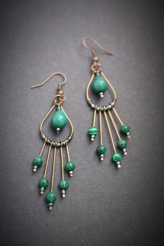 A personal favorite from my Etsy shop https://www.etsy.com/listing/562057410/green-wire-earrings-green-dangle