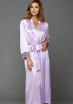 Allura Long Gown - Silk Nightgown with Lace Long Silk Nightgown, Silk Chemise, Silk Gown, Camisole, Satin Lingerie, Pretty Lingerie, Satin Dressing Gown, Cheongsam Dress, Silk Slip