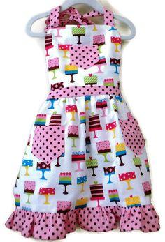 Cake Apron Children's Apron Little Girls Apron by KelleenKreations