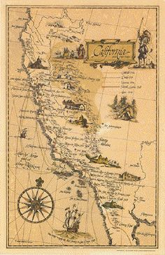 illustrated map california - Google Search