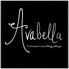 Baby girl's name Avabella. A little awkward to say, but. :) Just met a parent… Baby Girl Names Unique, Cute Baby Names, Pretty Names, Unique Names, Boy Names, Cute Short Girl Names, Baby Names And Meanings, Names With Meaning, Name Inspiration