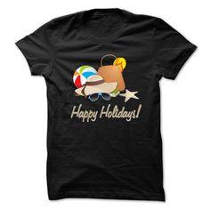 (Tshirt Discount) Happy Holidays T-shirt [Teeshirt 2016] Hoodies, Funny Tee Shirts