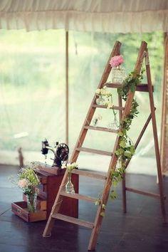 Rustic Ladder Decor.