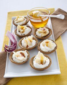 Tartellette alla crema salata di mascarpone