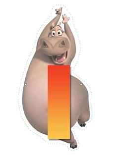 Hippo letter I. Madagascar 2, Penguins Of Madagascar, Childrens Alphabet, Cute Alphabet, Carnival Birthday, Baby Birthday, Hippo Drawing, Baby Hippo, Halloween Illustration