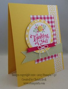 Thinking of You Card by beckcjb - Cards and Paper Crafts at Splitcoaststampers