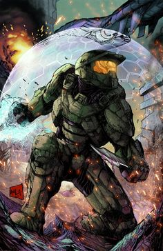 Halo Colors by hanzozuken on DeviantArt Halo Game, Halo 3, Science Fiction, Gi Joe, Halo Spartan, Desu Desu, Halo Master Chief, Halo Series, Halo Reach