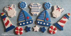 Nautical Baby Shower...I made these as part of a collaboration with One Divine Party:)  http://www.facebook.com/pages/One-Divine-Party/202482489762537 www.songbirdsweets.com