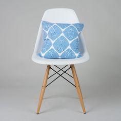 Diamond Illusion Pillow Cover in Blue