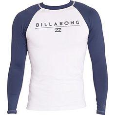 Billabong Men s All Day Raglan Regular Fit Long Sleeve Rash Guard  sailing   lasersailing Roupa d5ed16d5c58