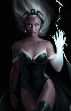 Storm from the X-Men and Avengers Marvel Dc Comics, Comics Anime, Bd Comics, Comics Girls, Marvel Heroes, Captain Marvel, Comic Book Characters, Comic Book Heroes, Marvel Characters