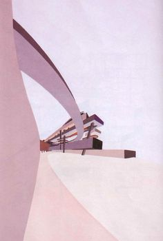 Zaha Hadid, 1982-1983 - From an unbuilt project entitled 'The Peak' in Hong Kong