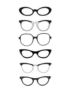 Black & White | Spectacles Cat-eyes take me back to 1964
