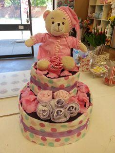 2 tier nappy cake