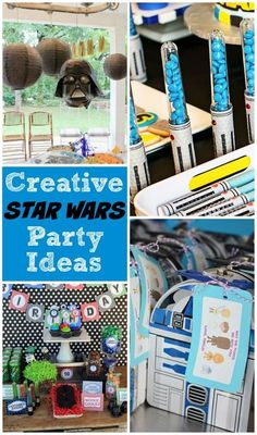 Tons of awesome and creative Star Wars party ideas, which are definitely popular right now with the release of a new movie coming soon!