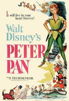 Walt Disney's Peter Pan (1953) Original Theatrical Poster