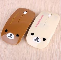 Free Shipping Kawaii Cartoon Rilakkuma Ultra Thin Bluetooth Wireless Mouse for PC Laptop Retail $10.88