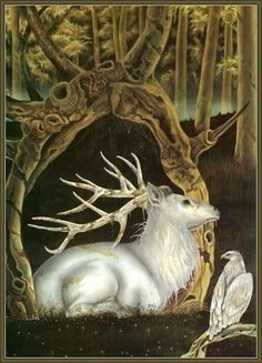 Herne Lord of the Trees in the form of a white stag.  or  as  the  White  hart  of  KR2  not  R2D2    see  1367 as  1967  &  1399 as  1999
