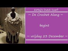 VOORAANKONDIGING voor de CrochetALong van EsMeij's Dutch Scarf - YouTube