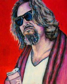 The Dude Pop Art Print  16x20 Portrait Poster by ARTWORKbyMALLORY, $40.00