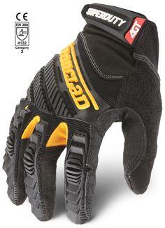 Ironclad  Orange  Universal  Large  Synthetic Leather  Safety Gloves