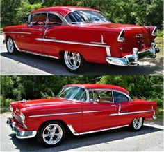 """The Muscle Car History Back in the and the American car manufacturers diversified their automobile lines with high performance vehicles which came to be known as """"Muscle Cars. 1955 Chevy, 1955 Chevrolet, Cool Old Cars, Chevy Muscle Cars, Pt Cruiser, Volkswagen, Us Cars, American Muscle Cars, Bugatti"""