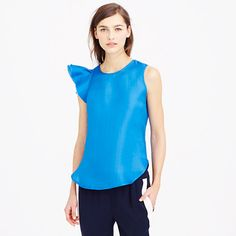 J.Crew - Collection flutter-sleeve top