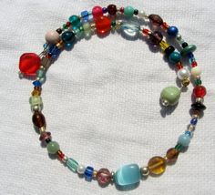Vintage & Recycled Bead Choker Necklace by cloverandrubies on Etsy, $15.00