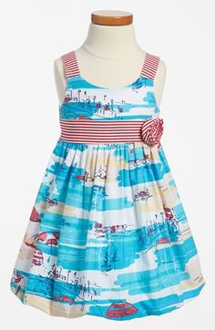 Pippa & Julie Print Dress (Toddler Girls) available at #Nordstrom. Perfect beach wedding dress for only $28!