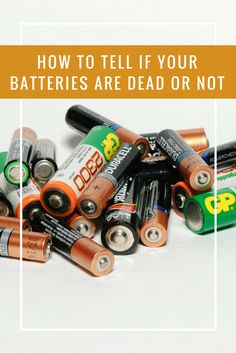 How to tell  if your batteries are dead or not - This simple trick will tell you if your batteries are dead or not WITHOUT a meter