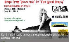 Dal 21 al 31 luglio la mostra internazionalle di Mail Art all'Isola Tiberina.