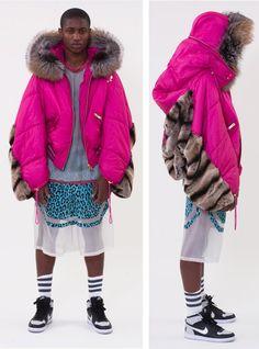 Astrid Anderson danish menswear designer. American hip hop meets spanish matadors.