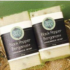 Our Black Pepper Bergamont soap #vegan #naturalbeauty #soap #handmade #handmadesoap #madewithlove #madeinamerica #madeinmichigan #michigander #michiganmade #nature #blackpepper #bergamont #bergamot