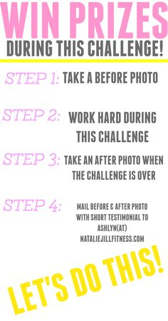 I am so excited to start the challenge tomorrow! FOLLOW the steps above to enter yourself in to win prizes during the challenge. REMEMBER: For the best results during this challenge I strongly recommend getting the 7 Day Jumpstart on my website. Click the image and use GOBBLE20 to save 20% at check out!