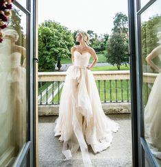 Editor's Pick: Nardos Imam Wedding Dresses with Couture Details. To see more: http://www.modwedding.com/2014/09/24/nardos-imam-wedding-dresses-with-couture-details/ #wedding #weddings #wedding_dress