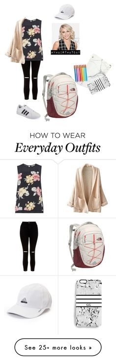 """""""My Outfit for School 2016"""" by maddiegracet on Polyvore featuring adidas, New Look, Billie & Blossom, WithChic, JULIANNE, The North Face, russell+hazel, Rianna Phillips, Paper Mate and modern"""