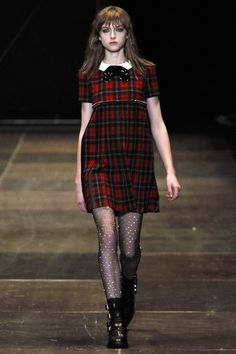 20 fashion trends for Autumn-Winter 2013-2014 by French Vogue. Tartan by Saint Laurent