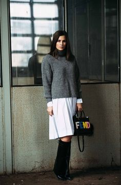 More on www.fashiioncarpet.com  I Knit by Isabel Marant, Blouse by Marni, Bag by Fendi, Boots by Givenchy I #fashiioncarpet #ninaschwichtenberg