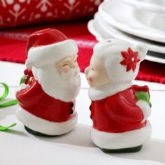Mr. and Mrs. Claus Salt and Pepper Shakers . Price: $10.46 . Click to Purchase: http://amzn.to/ZIVRDb