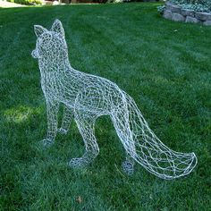 Life Size Fox Wire Sculpture - back by Ruth Jensen, via Flickr