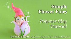 How to sculpt a simple Flower Fairy from Polymer Clay Modellare una Fatina dei Fiori semplice in pasta sintetica Blog: http://celidoniastudio.blogspot.it Mus...