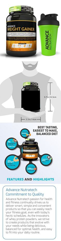Advance Nutratech Advance Weight Gainer 1Kg (2.2Lbs) Chocolate +Free Shaker