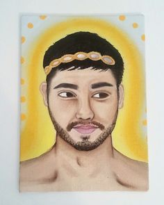 Portrait of Frank as a Greek God Oil on canvas Greek Gods, Oil On Canvas, Diana, Baseball Cards, Portrait, Art, Art Background, Headshot Photography, Kunst
