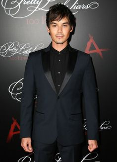 Tyler Blackburn attends the 'Pretty Little Liars' 100th episode celebration at W Hollywood on May 31, 2014 in Hollywood, California