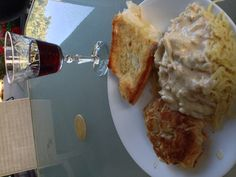 This is Naturally N'Awlins and the reason why you need to exercise! Louisiana jumbo lump crab cakes and a crabmeat sauce over angel hair pasta. French bread of course.