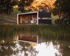 The Pump House by Branch Studio Architects  in Victoria, Australia, is a completely off-grid tiny house. Find out more at http://humble-homes.com/pump-house-compact-grid-home-australia/